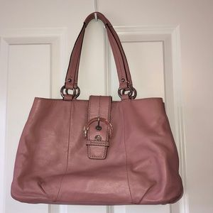 Coach pink leather purse